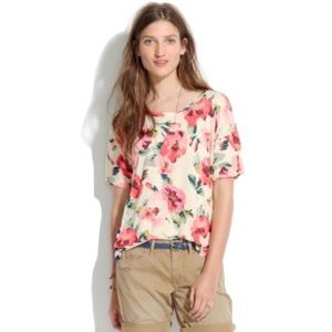 Madewell Slideshow Top in Tearose Small